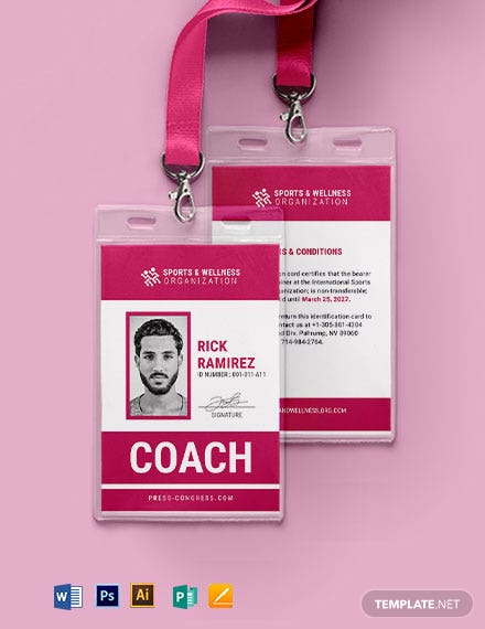 Official Sports ID Card Template