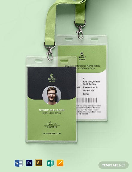 Packaging Service ID Card Template