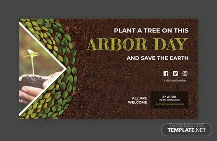 Free Arbor Day YouTube Video Thumbnail Template