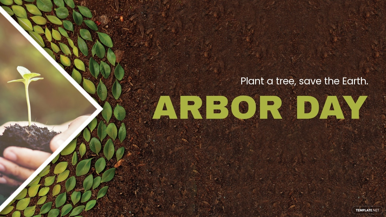 Arbor Day YouTube Video Thumbnail Template