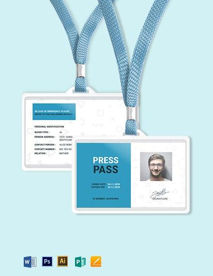 Pass ID Card