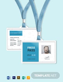 Pass ID Card Template