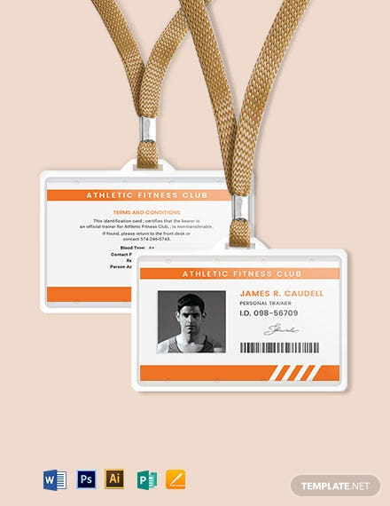 Personal Trainer ID Card Template