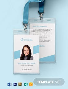 Pet Adoption Center ID Card Template