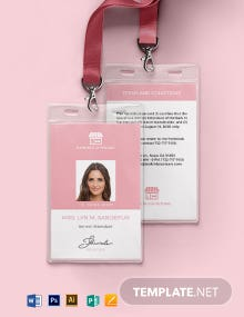 Pet Boarding ID Card Template