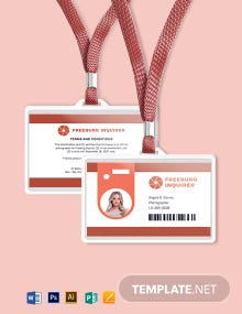 Photographer ID Card Format Template