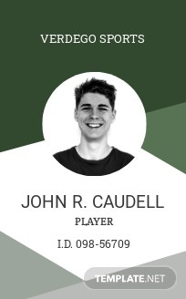 Player ID Card Template