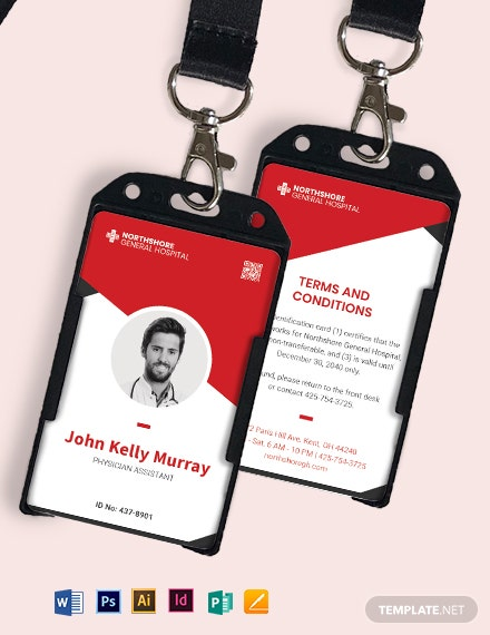 Printable Emergency ID Card Template