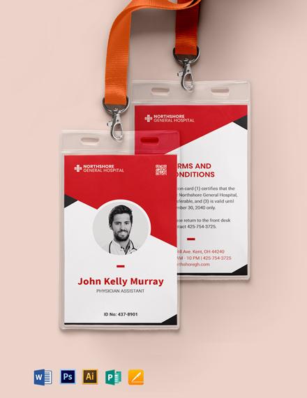 Printable Emergency ID Card Template