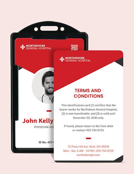 Sample Printable Emergency ID Card