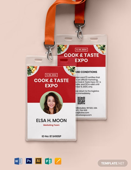 Printable Event ID Card Template