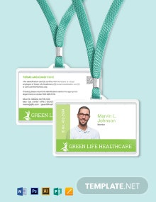 Printable Healthcare ID Card Template