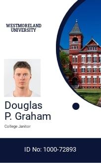 Private College ID Card Template.jpe