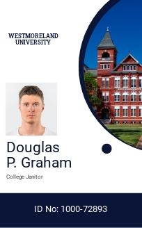 Private College ID Card Template