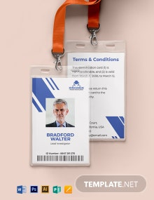 Private Investigator ID Card Template