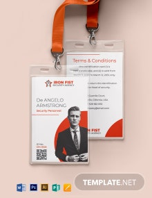 Private Security ID Card Template