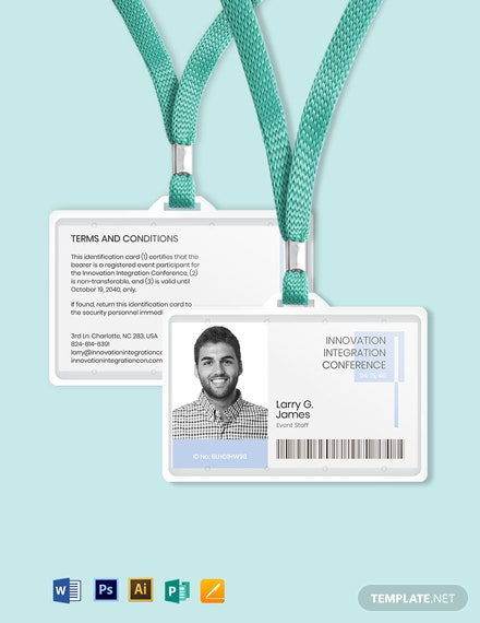 Professional event ID Card