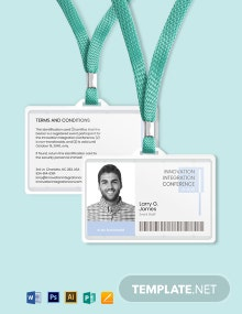 Professional event ID Card Template