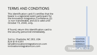 Professional event ID Card Template 1.jpe