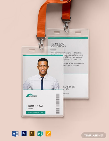 Realtor ID Card Template