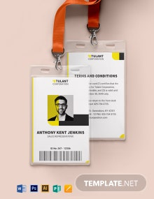 Sales Representative ID Card Template