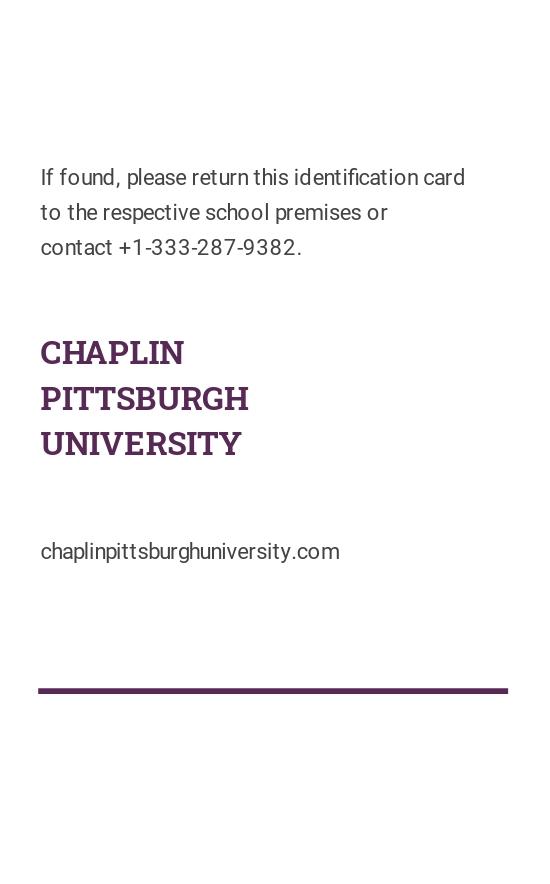 Sample College ID Card Template 1.jpe