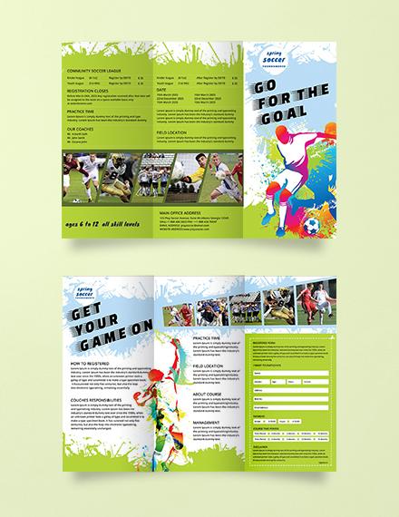 Free Soccer Tri-Fold Brochure Template