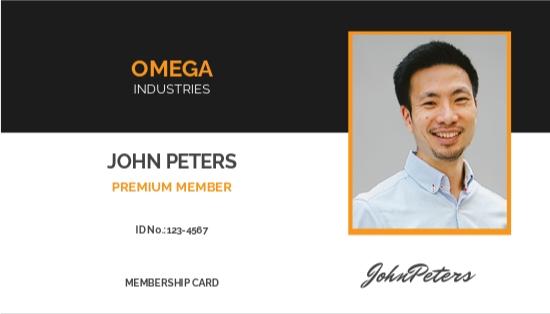 Sample Membership ID Card Template.jpe