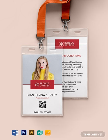 Printable Corporate ID Card Template