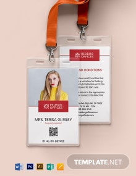 Printable Corporate ID Card Template
