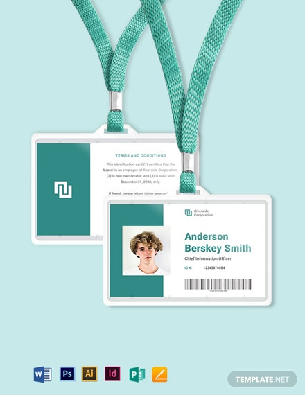 Printable Investigator ID Card Template