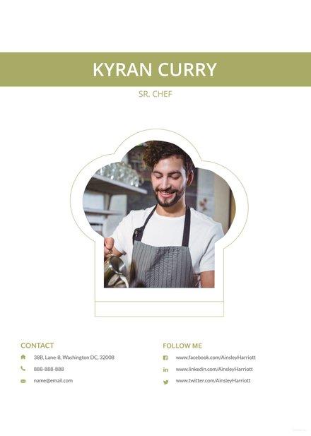 Free Senior Chef Resume Template