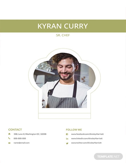 Free Senior Chef Resume Template