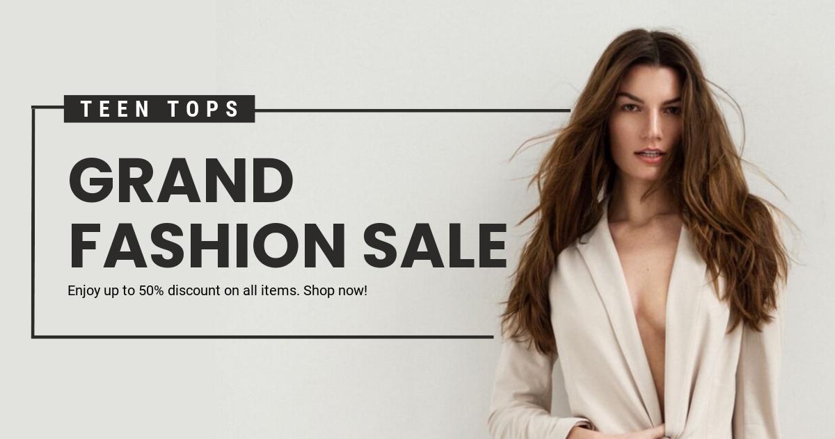 Free Grand Fashion Sale Facebook Post Template.jpe