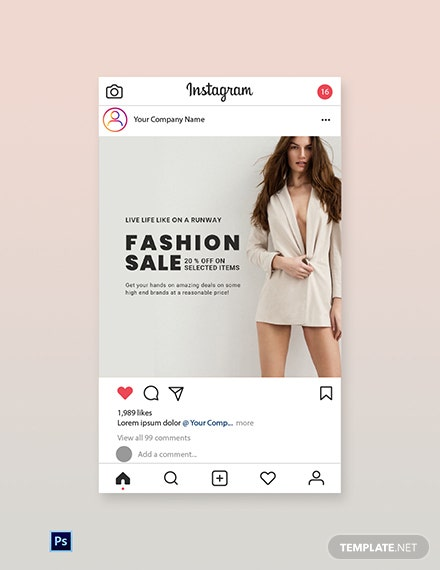 Free Grand Fashion Sale Instagram Post Template
