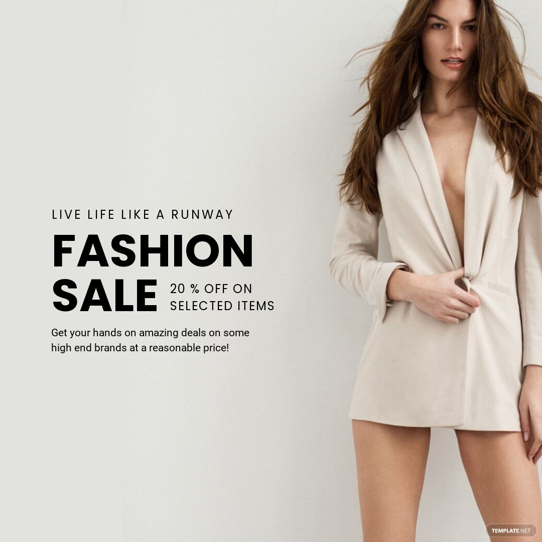 Free Grand Fashion Sale Instagram Post Template