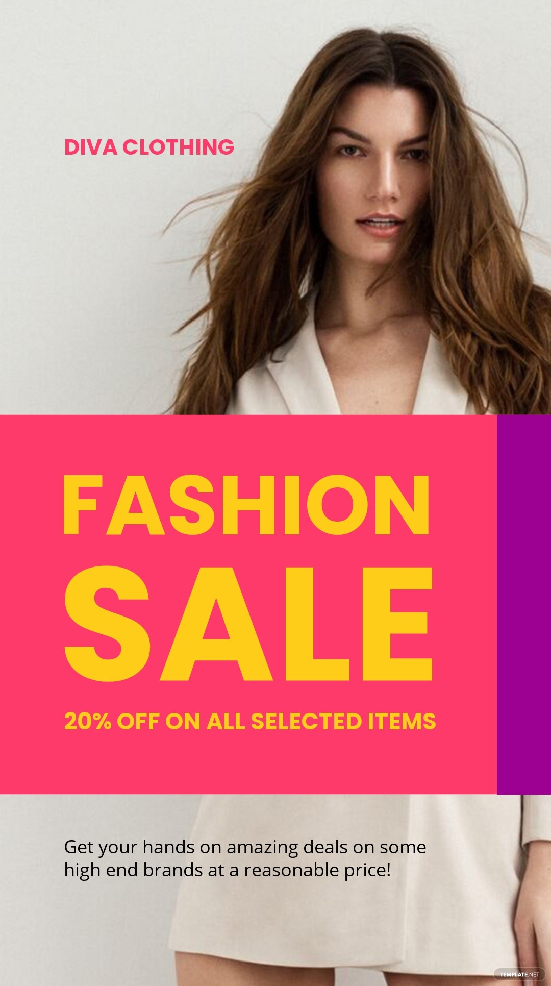 Free Grand Fashion Sale Instagram Story Template