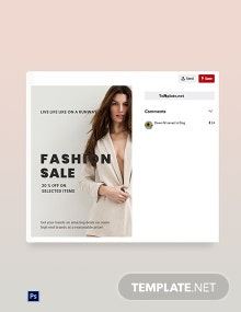 Free Grand Fashion Sale Pinterest Pin Template
