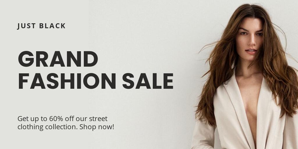 Free Grand Fashion Sale Twitter Post Template.jpe