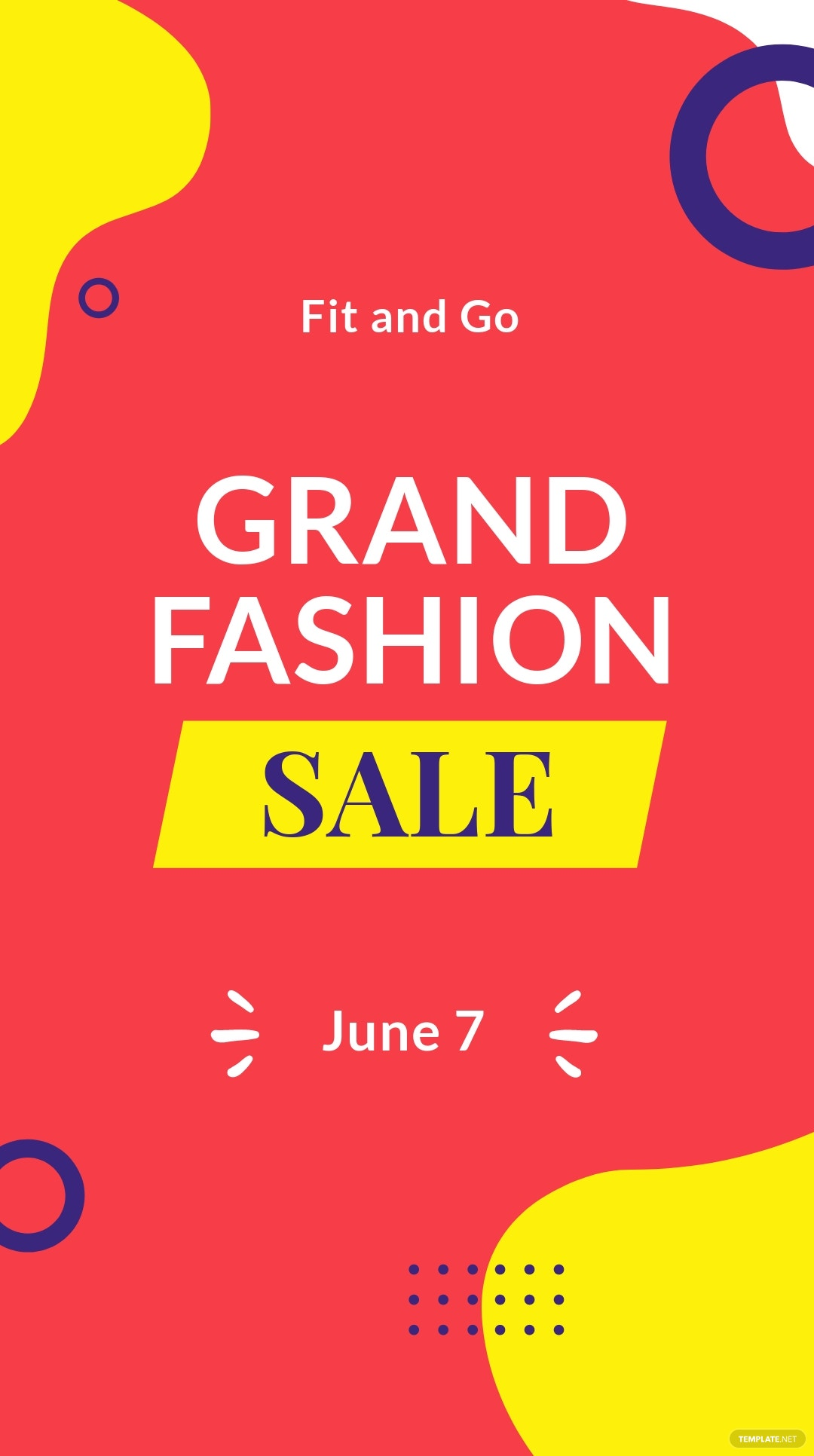 Free Grand Fashion Sale Whatsapp Post Template.jpe