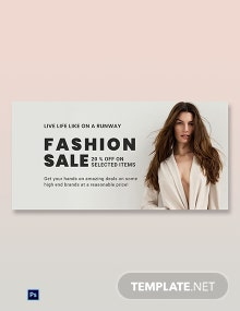 Free Grand Fashion Sale Blog Post Template