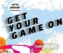 Free Soccer Billboard Banner Template