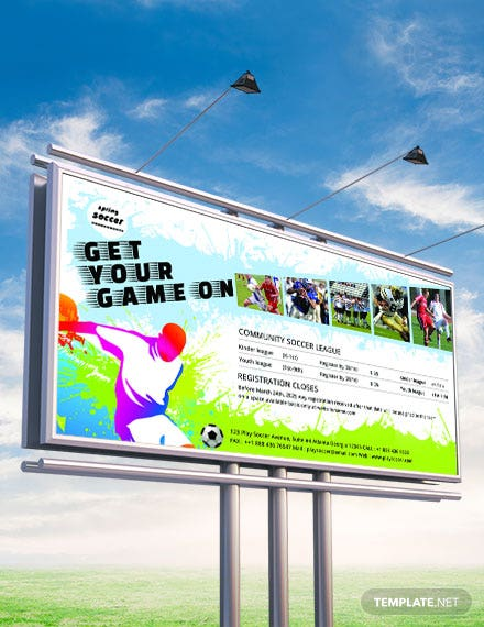 Free Soccer Billboard Banner Template