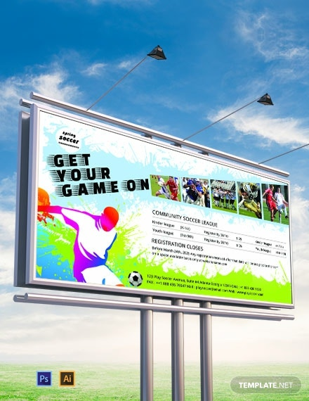 free soccer billboard banner template 440x570 1