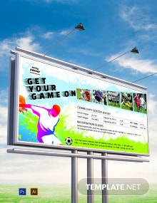 Soccer Billboard Banner Template