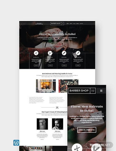 Barber Shop WordPress Theme/Template