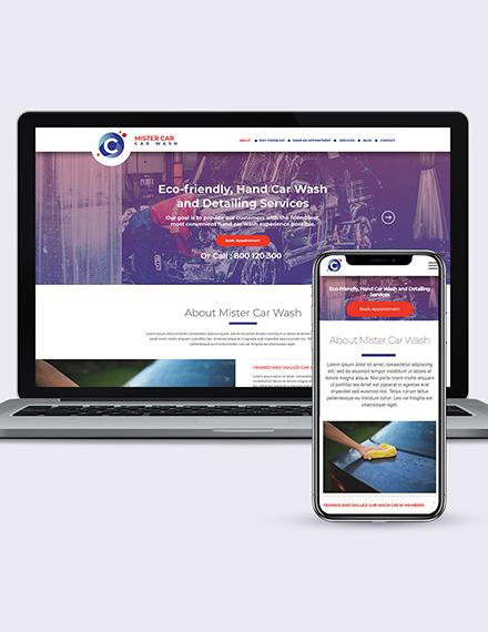 carwash wordpress landingpage theme Download
