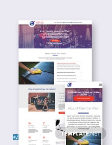 Car Wash WordPress Theme/Template