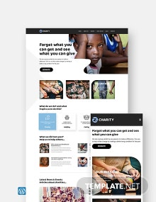 Charity WordPress Theme/Template