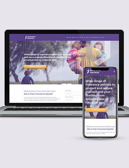 insurance agency wordpress landing page theme Download